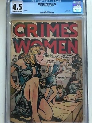 Crimes by Woman # 3  #CGC 4.5 Used in SOTI.