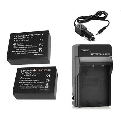 NP-W126 NP-W126S Battery /Mains&car Charger for Fujifilm X-T20 X-T10 X-E2S X100F