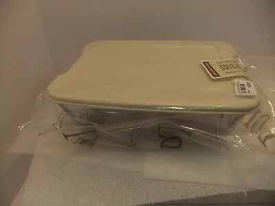 Longaberger Plastic Protector New Set Small Single With Hard Plastic With Lid