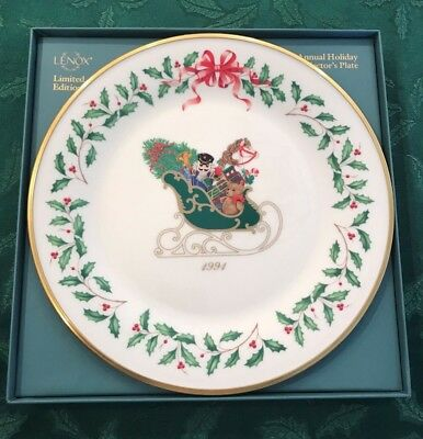Lenox 1991 Annual Holiday Christmas Plate 1st in Series MIB