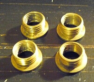 """Lot of 4 Solid Brass Reducer 1/8"""" IPS X 1/4-27 Fits Standard Lamp Harp (R5)"""