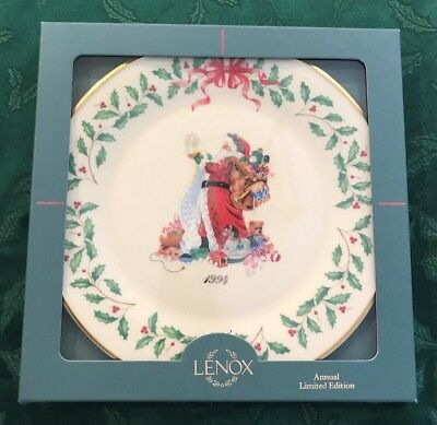 Lenox 1994 Annual Holiday Christmas Plate 4th in Series MIB