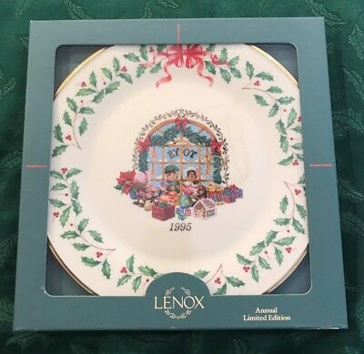 Lenox 1995 Annual Holiday Christmas Plate 5th in Series MIB