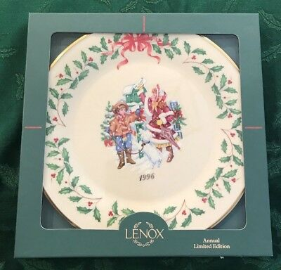 Lenox 1996 Annual Holiday Christmas Plate 6th in Series MIB