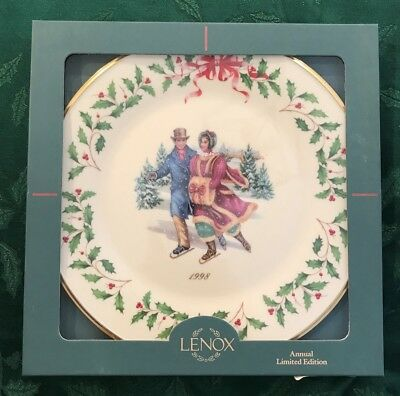 Lenox 1998 Annual Holiday Christmas Plate 8th in Series MIB