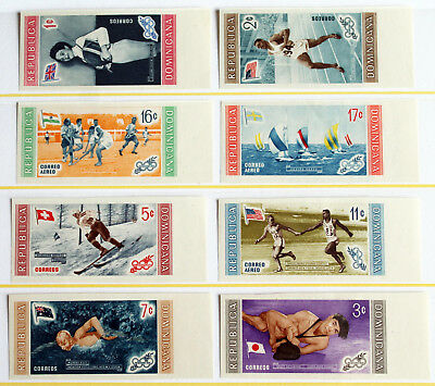 Dominican Republic – 1958 Olympics Winners Flags – Imperf. Mint (R3)