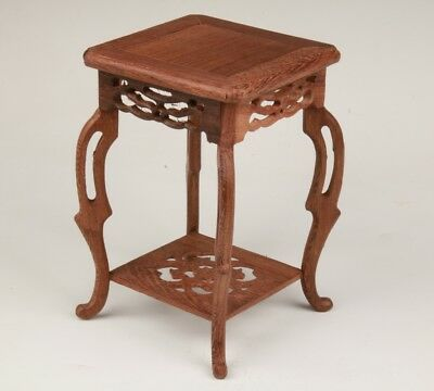 Retro Chinese Rare Wood Pure Handmade Carving Base Decoration Collection