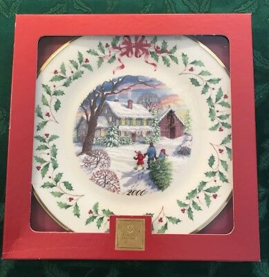 Lenox 2000 Annual Holiday Christmas Plate 10th in Series MIB