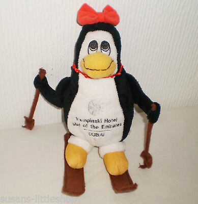 Kempinski Hotel Mall of the Emirates Dubai Soft Toy skiing Penguin Collectable