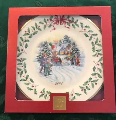 Lenox 2001 Annual Holiday Christmas Plate 11th in Series MIB