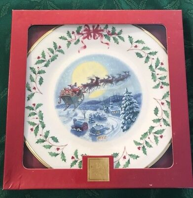 Lenox 2002 Annual Holiday Christmas Plate 12th in Series MIB