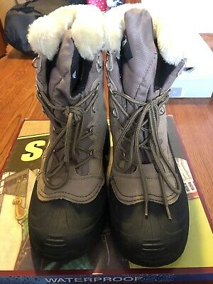 c5c643fe69e SMITHS GLACIER WOMENS Winter Boot Size 11 Leather Upper Insulated Tan Black