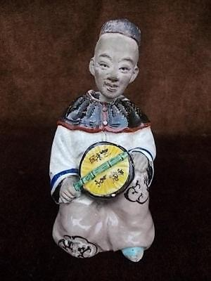 904 / A Japanese Pottery 19Th Century Meiji Banko Nodder Doll / Figure