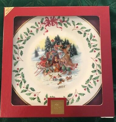 Lenox 2004 Annual Holiday Christmas Plate 14th in Series MIB
