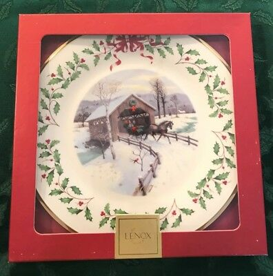 Lenox 2007 Annual Holiday Christmas Plate 17th in Series MIB