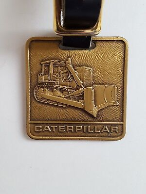 Caterpillar Bulldozer Watch Fob Metal with Leather Strap