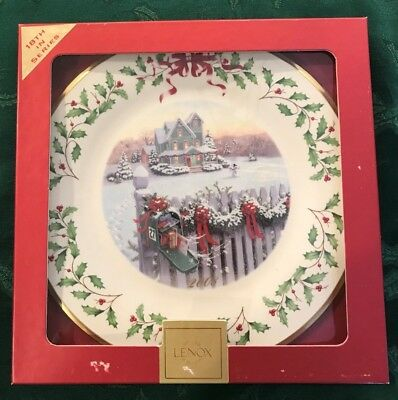 Lenox 2008 Annual Holiday Christmas Plate 18th in Series MIB