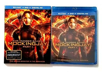 The Hunger Games: Mockingjay, Part 1 (2-Disc Blu-ray/DVD Set) New w/Slipcover!