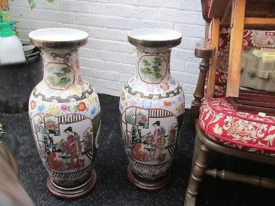 Large Oriental Vases On Stands