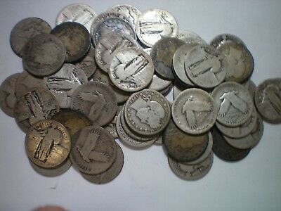 Barber And Standing Liberty Quarter Lot  / $14.00 Face / 56 Coins