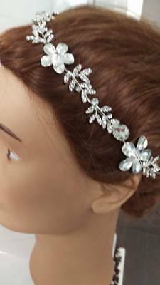 Bridal wedding Head Piece Hair Accessories Rhinestones Diamontes Women Bride