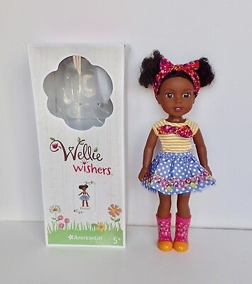 American Girl Wellie Wishers doll Kendall EXCELLENT Condition w/ box & Outfit