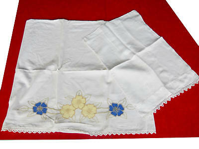 Antique Victorian Vintage 1910 Cotton Tatted Lace Applique Baby Doll Pillow Case