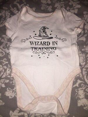a6ea96147e3 PRIMARK HARRY POTTER Wizard In Training Vest 0-3 New - £2.00 ...