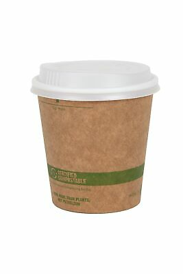 World Centric 100% Biodegradable Compostable Paper PLA-Lined 12 Oz Cup & Lid-50