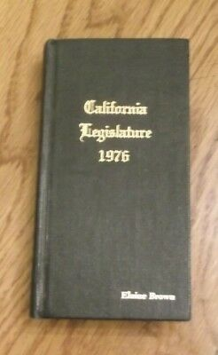 Black Panther Party ~ Elaine Brown's Personal 1976 CA State Legislature Handbook