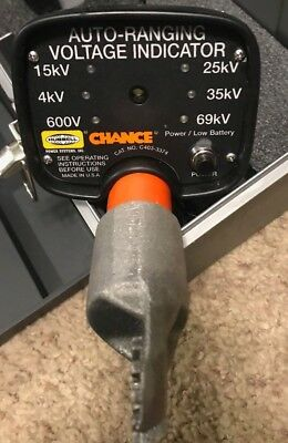 Hubbell Chance C403-3374 Auto-Ranging LED High Voltage Detector 69kV w/ case