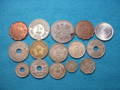 """(15) Old Africa Coin Of """"Egypt"""" Collection Lot."""