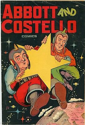 Abbott and Costello number 3 from 1948 Very Good St Johns Publishing