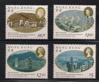 Hong Kong 1993 Sc #673-76 Coronation MNH (10110)
