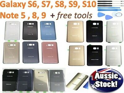 Samsung Galaxy S7 S6 S8 S9 S10 Note 9 8 5 Back Rear Housing Battery Cover Case
