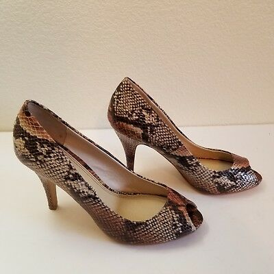 ab2dec707ea CHINESE LAUNDRY COUNT Down Women's Size 10M Faux Snakeskin Peep Toe  Heels/Pumps