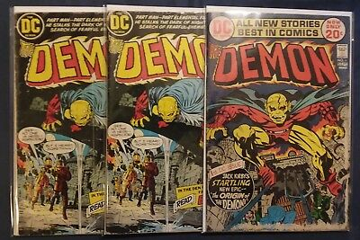 The Demon, 7 Issue Reader Lot [1973, DC] #1, 2x2, 3, 9, 10, 11