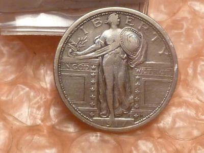 1917 Standing Liberty Silver Quarter Type 1 Very High Grade #BB