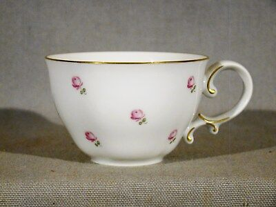 Vienna Augarten Handpainted Porcelain Pink Roses Coffee Cup