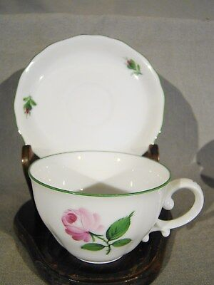 Vienna Augarten Handpainted Porcelain Large Viennese Rose Coffee Cup