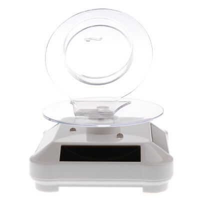 Solar Powered Rotating Rotary Watch Bracelet Display Stand Turntable - White