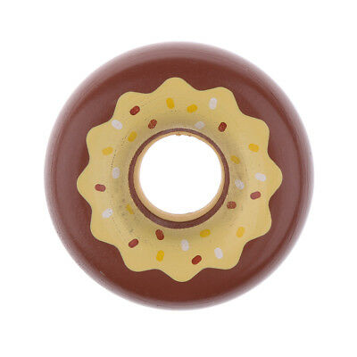 Wooden Magnet Connected Chocolate Donut Toy Kids Pretend Play Fun Gifts