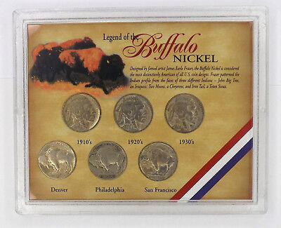 Legend of the Buffalo Nickel in Plastic Gift Holder