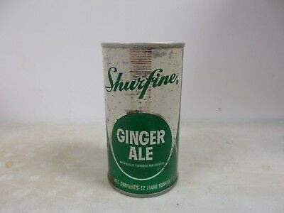 1968 Shurfine Ginger Ale soda can.