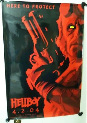 2004 HELLBOY Advance - Red Glossy Style - Original Single Sided Movie Poster