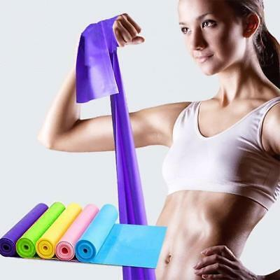 Long Resistance Bands. Flat Latex Free Home Gym Fitness Equipment For YPU