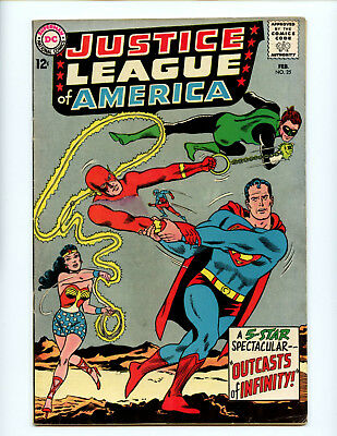 Justice League of America 25 Solid VG+ Flash Wonder Woman