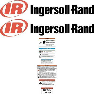 Ingersoll Rand 7100 Decals Repro IR Compressor Decals | 7yr Rated & Laminated