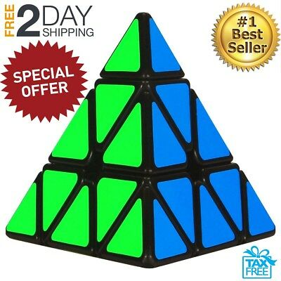 Rubiks Pyramid Speed Cube Rubix Games Magic Puzzle Kid Brain Teasers Toy Gift