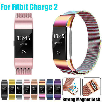 For Fitbit Charge 2 Strap Replacement Milanese Band Stainless Steel Magnet ☆UK